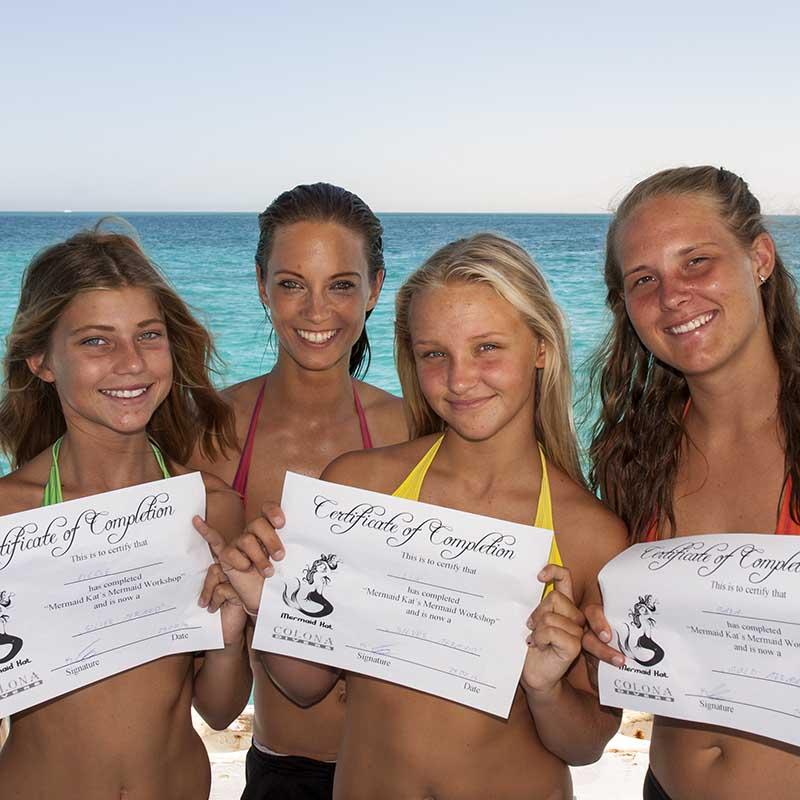 Experienced mermaid instructors at Mermaid Kat Academy - Become a mermaid